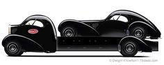 concept for the Bugatti Atlantic Coupe Hauler