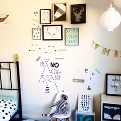 Styled boys room by YorkeLee prints.