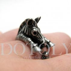 $10 Zebra Ring available in both silver and bronze!  By Dotoly on Artfire