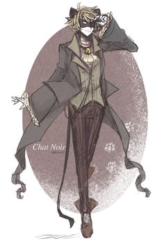 a Chat Noir to go with my Ladybug design~