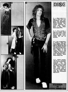 "glamidols: "" Roger Taylor of Queen modeling for Disc – February 1975 Clothes from Kensington Market & King's Road boutiques – Granny Takes A Trip, Cloud Nine, Bus Stop, Ambalu & Essences Fashion. John Deacon, I Am A Queen, Save The Queen, Bryan May, Queen Drummer, Roger Taylor Queen, Queen Pictures, Queen Photos, Ben Hardy"