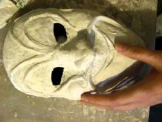 How to Make a Mask (Plaster Cloth Method) Part 3 and halloweengif Halloween Gif, Halloween Projects, Paper Clay, Paper Art, Plaster Crafts, Paper Mache Mask, Face Mold, Clay Masks, Diy Mask