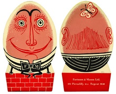 A Dumpty Duo front and back from Entertaining A La Carte by Edward Bawden for Fortnum & Mason.