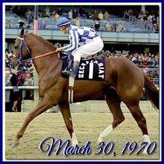 Photo is from when he retired and was paraded in front of his public.  Secretariat's Birthday
