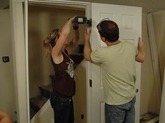 diy hanging a prehung door