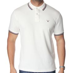 Gant Tipping Polo T-Shirt. Shop now at http://www.themenswearsite.com/polo-t-shirts-c3/t-shirt-gant-tipping-rugger-off-white-p84594?attribute[3]=1959