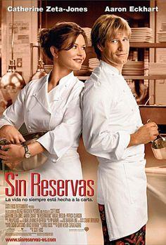 Sin reservas es una película estadounidense protagonizada por Katherine Zeta Jones, que interpreta a una reputada chef de uno de los mejores restaurantes de Manhattan. Allí, deberá aprender a convivir con su nuevo compañero de trabajo, por quien sentirá algo muy especial. #sinreservas #hollywood #restaurante #manhattan  #chef