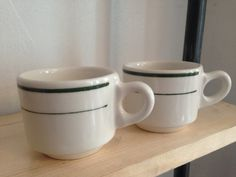 Vintage Diner Style Coffee Mugs Buffalo China by TheNeoNewYorker
