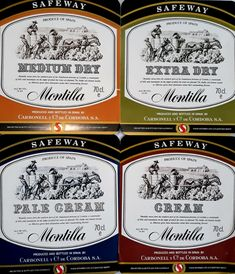 Collage of wine labels, produced and bottled for STORES