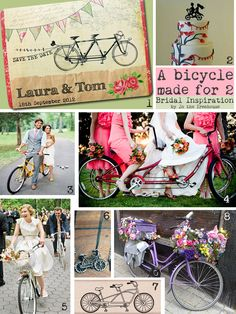 Bicycle themed wedding pics