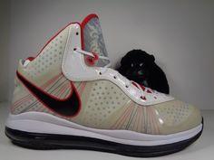 8722d0c68cae1a Mens Air Max Lebron James VIII Miami Basketball Shoes Size 12 us  429676-100. Mens Nike ...