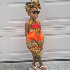 Dashiki Romper ~ African fashion, Ankara, kitenge, Kente, African prints… More Más African Print Dresses, African Print Fashion, African Fashion Dresses, Fashion Prints, African Prints, Africa Fashion, African Dresses For Kids, Ankara Fashion, Baby African Clothes
