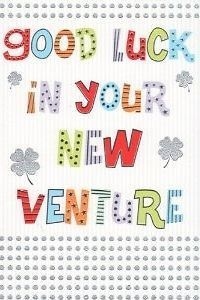 ''Good Luck In Your New Venture'' Greeting Card Business Job Congratulation: