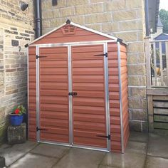 """palramapps""""She lives ! Just wanted to mention your customer service support is second to none. Have had to ring a few times for one reason or another and the service is exceptional , thank you!"""" Charlotte Parker So glad to receive this feedback from you Charlotte 🌸 Thank your for the lovely photo! 💐 The SkyLight Shed fits in perfectly 🏡 #shed #storage #homeimprovement #DIY freebiefindingmomThis is nice :)"""