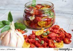 Naložená sušená rajčata ( ze sušičky )