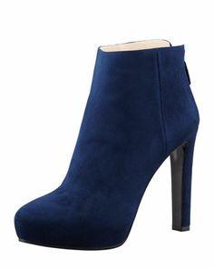 Suede Hidden-Platform Ankle Boot by Prada at Bergdorf Goodman.