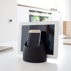 Hub Tech Tidy - Cool Grey - J-Me - Desktop Organisation Ipad Storage, Office Desktop, Desktop Organization, Organisers, Global Design, Stand Design, Tv Unit, Reading Glasses, Larger