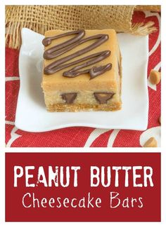 Peanut Butter Cheesecake Bars | Incredibly rich and filled with mini Reese's! @lizzydo