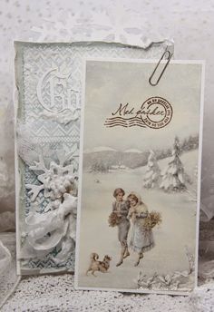 Anne's paper fun: An Old Fashioned Christmas Card, so Pretty~❥