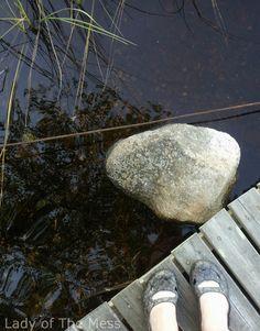 Lake, stone - Eastern Karelien, Finland.