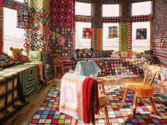 A Knitter's haven! Any crafty people out there can appreciate how much work went into this room #interestinginteriors