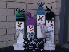 2x4 christmas craft | Keeping it Simple: Tutorial Tuesday: 2x4 Snowmen