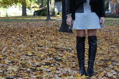 Glitter and Gingham : totally tweed with Vince Camuto Karita Over the Knee Boots