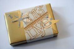 gift wrap by @Kinsey Keeling Wilson featuring our Noah Outline stamps