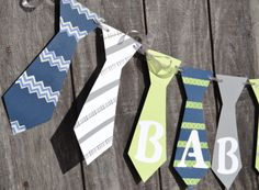 Baby Boy Shower Banner Gender Reveal Banner by CraftedOccasions, $28.00