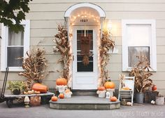Thoughts from Alice: Rustic Fall Front Porch