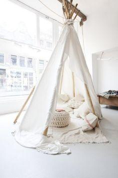 Living Room Tent & Cushions Via Nordic Bliss