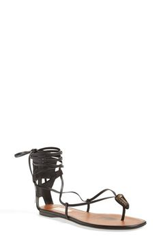 VALENTINO Lace-Up Sandal (Women). #valentino #shoes #flats