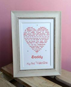 10x8 mounted print your own words your poem song lyrics first wedding dance first wedding anniversary print our song daddy valentine