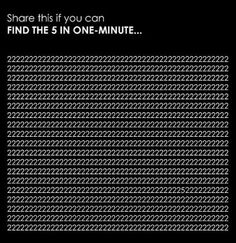 Find the 3 in 1 minute!