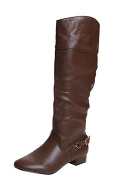 Lola Leather Look Knee High Riding Boot