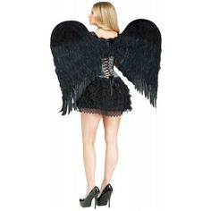 Feather Angel Wings Adult Costume Accessory Halloween Fancy Dress in Clothing, Shoes & Accessories | eBay