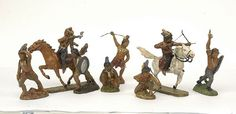 5588: Elastolin - [Indianer Range] Wild West Figures : Lot 5588