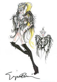 #Giorgio #Armani dresses #Lady #GaGa #Born This Way #Asian #Tour