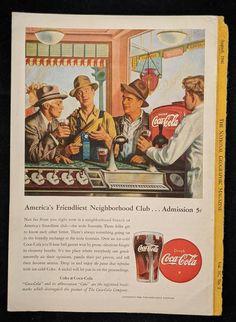 Coca-Cola America's Friendliest Neighborhood Club | Etsy