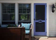 Striped Bass Cutout Custom Screen Doors, Wooden Screen, Exterior Paint Colors For House, Interior And Exterior, Adirondack Chairs, Shutters, Beach House, Cottage, Windows