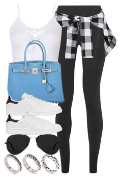 """""""Style #10885"""" by vany-alvarado ❤ liked on Polyvore featuring Live The Process, Hermès, adidas Originals, Ray-Ban and ASOS"""