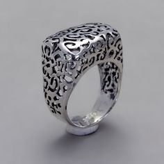 Sterling Silver Ring - Handmade Sterling Silver Filigree Jewelry - Thin Lace Ring