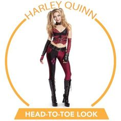 Harley Quinn costumes make us happy any time of year, but especially for Halloween! @BuyCostumes, #OrangeTuesday #ad