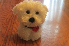 Bichon Pom Pom Puppy Teacup Pup by brilliANNtCrafts on Etsy