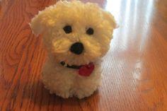 Bichon Pom Pom Puppy Teacup Pup by brilliANNtCrafts on Etsy