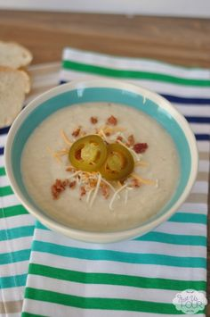 Gluten Free Loaded Cauliflower Soup | Just Us Four