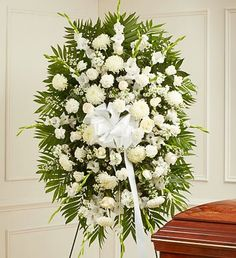 1800Flowers - Deepest Sympathies White Standing Spray - Large - http://yourflowers.us/?p=5479