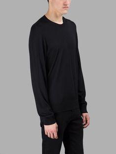 MAISON MARGIELA Maison Margiela Men'S Black Sweater. #maisonmargiela #cloth #knitwear