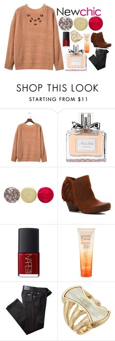 """""""Sweet Lovin' #newchic"""" by sghotra ❤ liked on Polyvore featuring Christian Dior, JINsoon, OTBT, NARS Cosmetics, BRAX, Robert Lee Morris, Talbots, chic, New and newchic"""