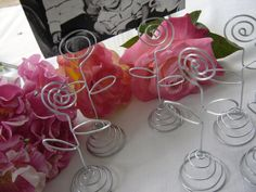 SALE  Wedding Table Number Holders / Picture by Sparrowstation, $11.00
